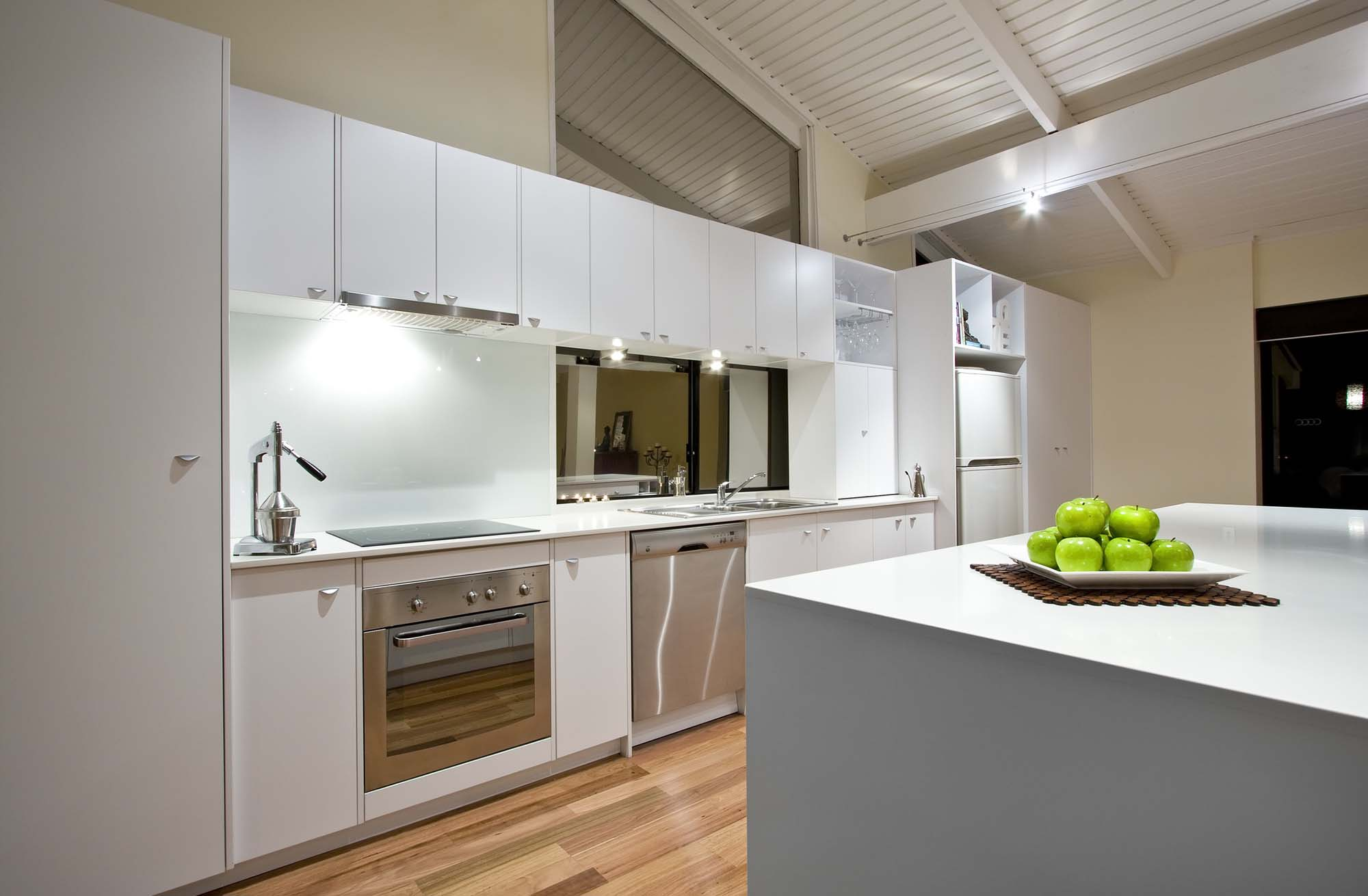 A Clean White Modern Kitchen