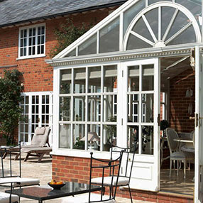 home-extension with white conservatory